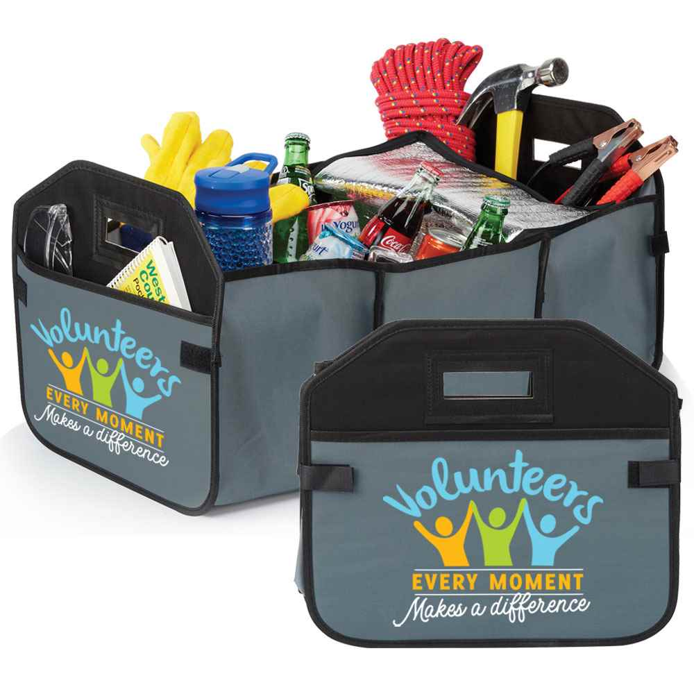 Volunteers: Every Moment Makes A Difference 2-In-1 Trunk Organizer & Cooler