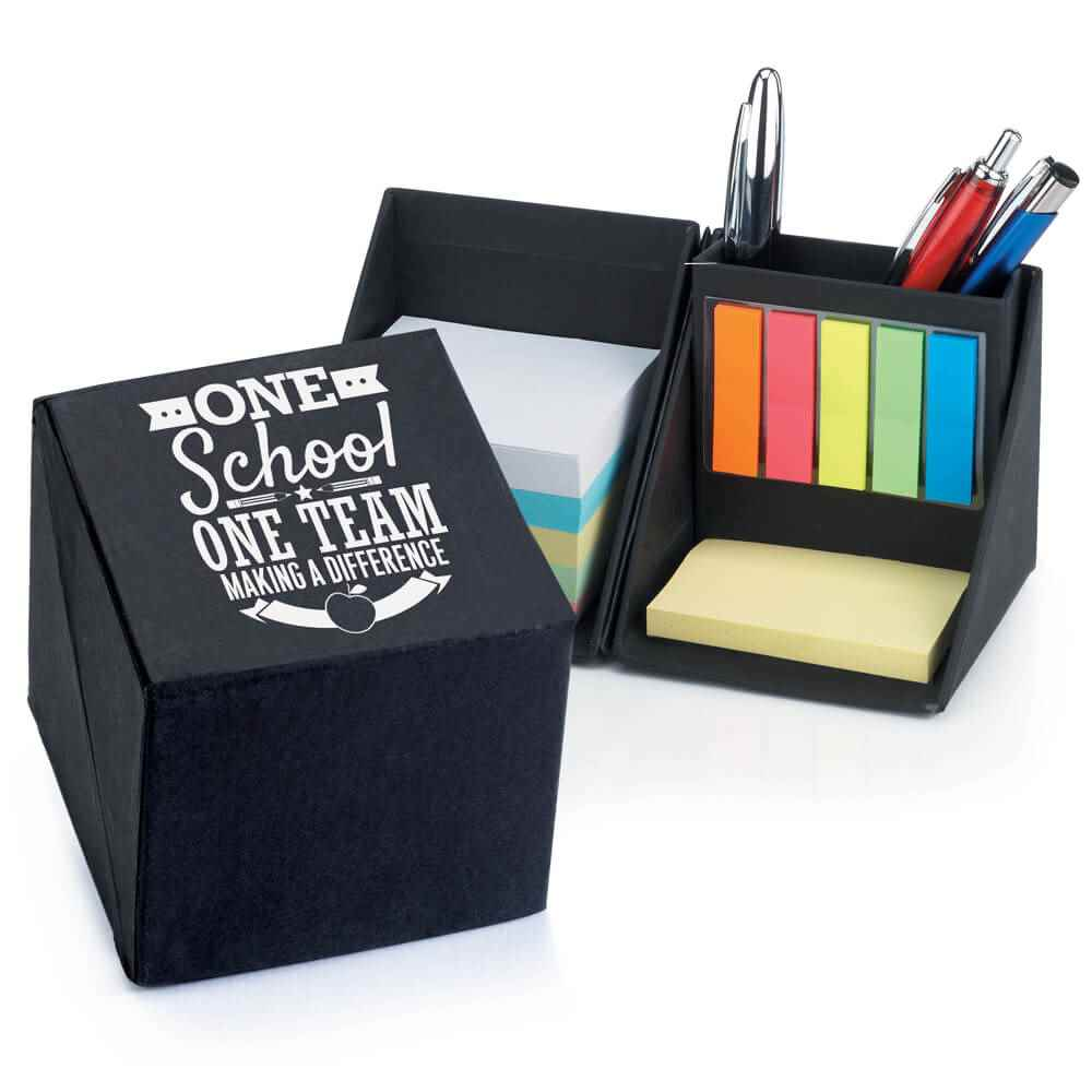 One School, One Team: Making A Difference Recycled Note Cube Caddy