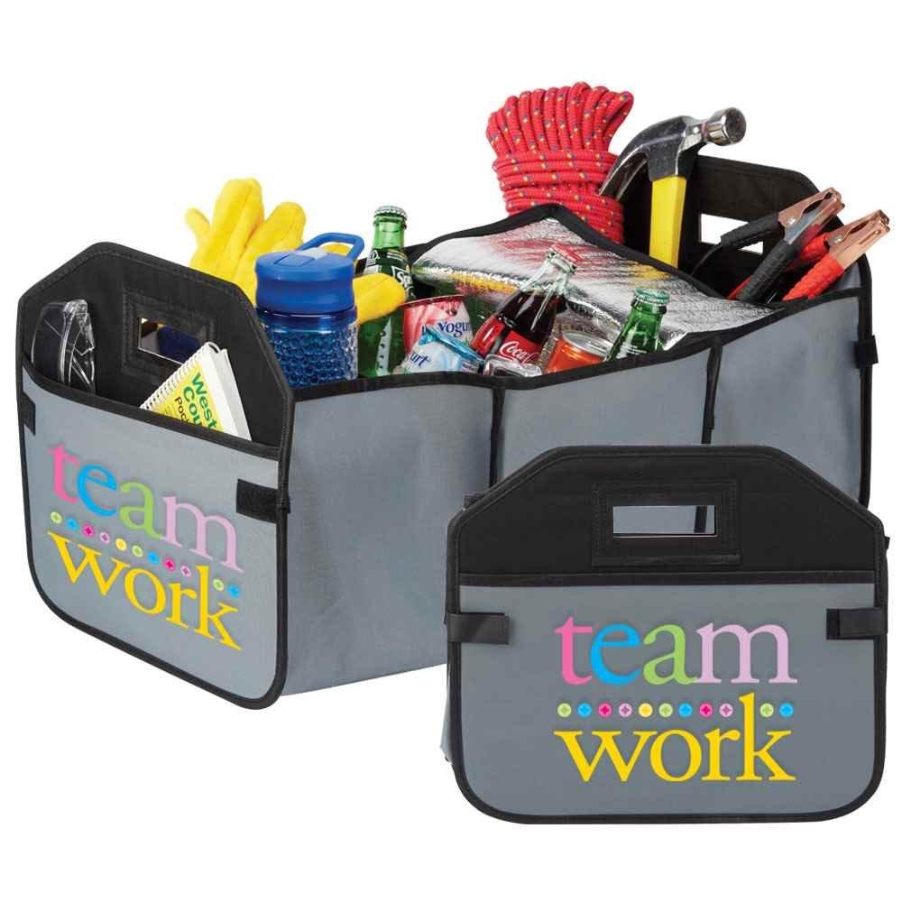 Teamwork Grey 2-in-1 Trunk Organizer & Cooler