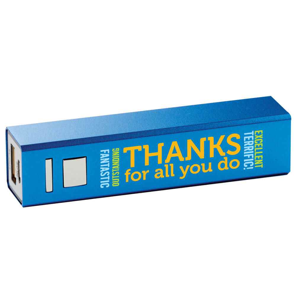 Thanks For All You Do Metal Power Bank