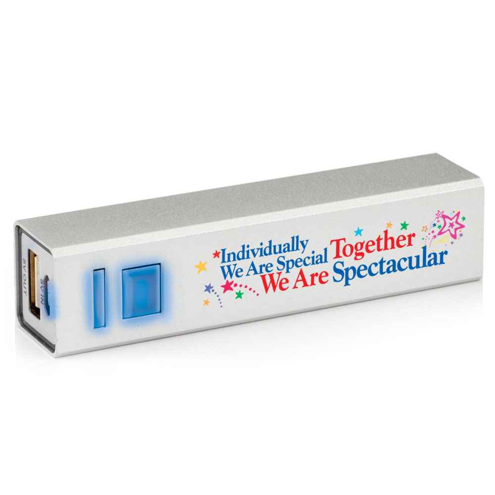 Individually We Are Special, Together We Are Spectacular Metal Power Bank
