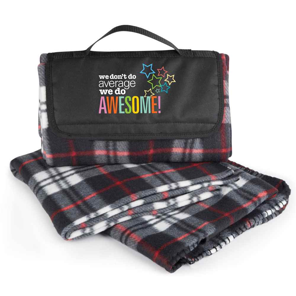 We Don't Do Average, We Do Awesome! Fleece Blanket