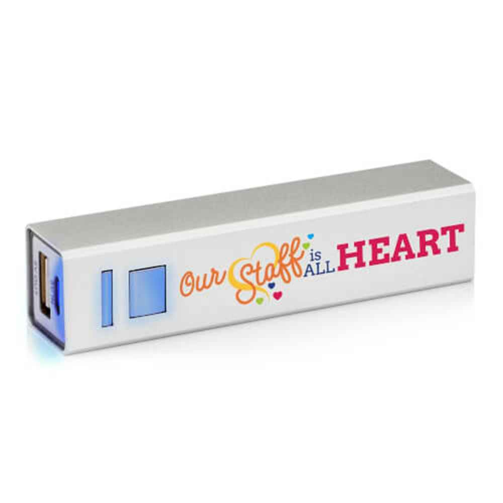 Our Staff Is All Heart Metal Power Bank