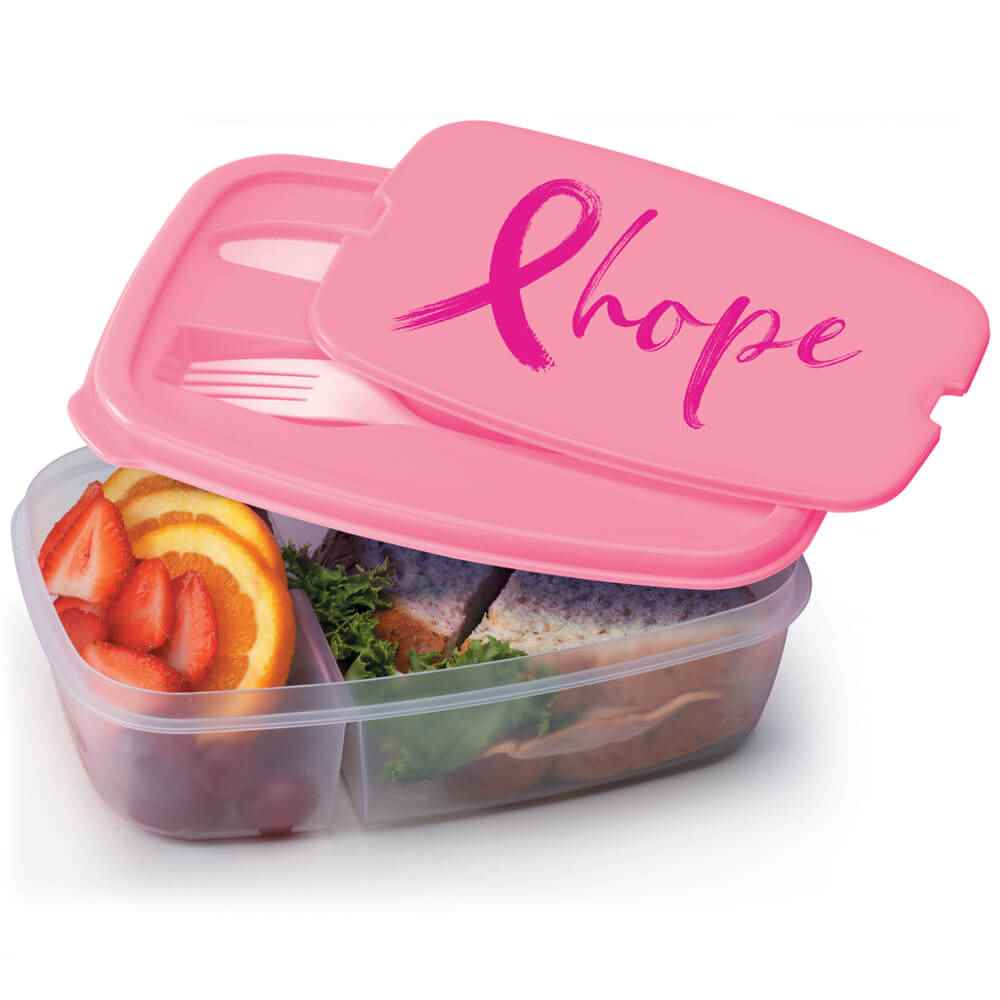 Hope 2-Section Food Container With Utensils