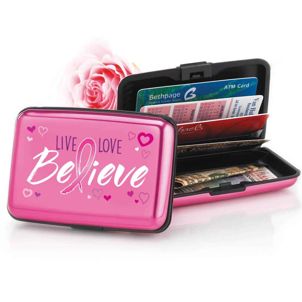 Live, Love, Believe Identity Guard Aluminum Wallet