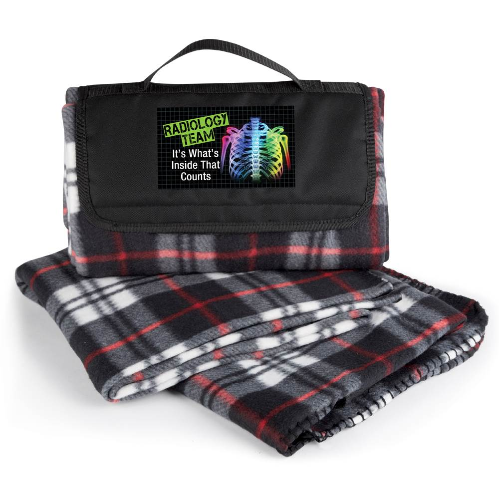 Radiology Team: It's What's Inside That Counts Plaid Fleece Blanket