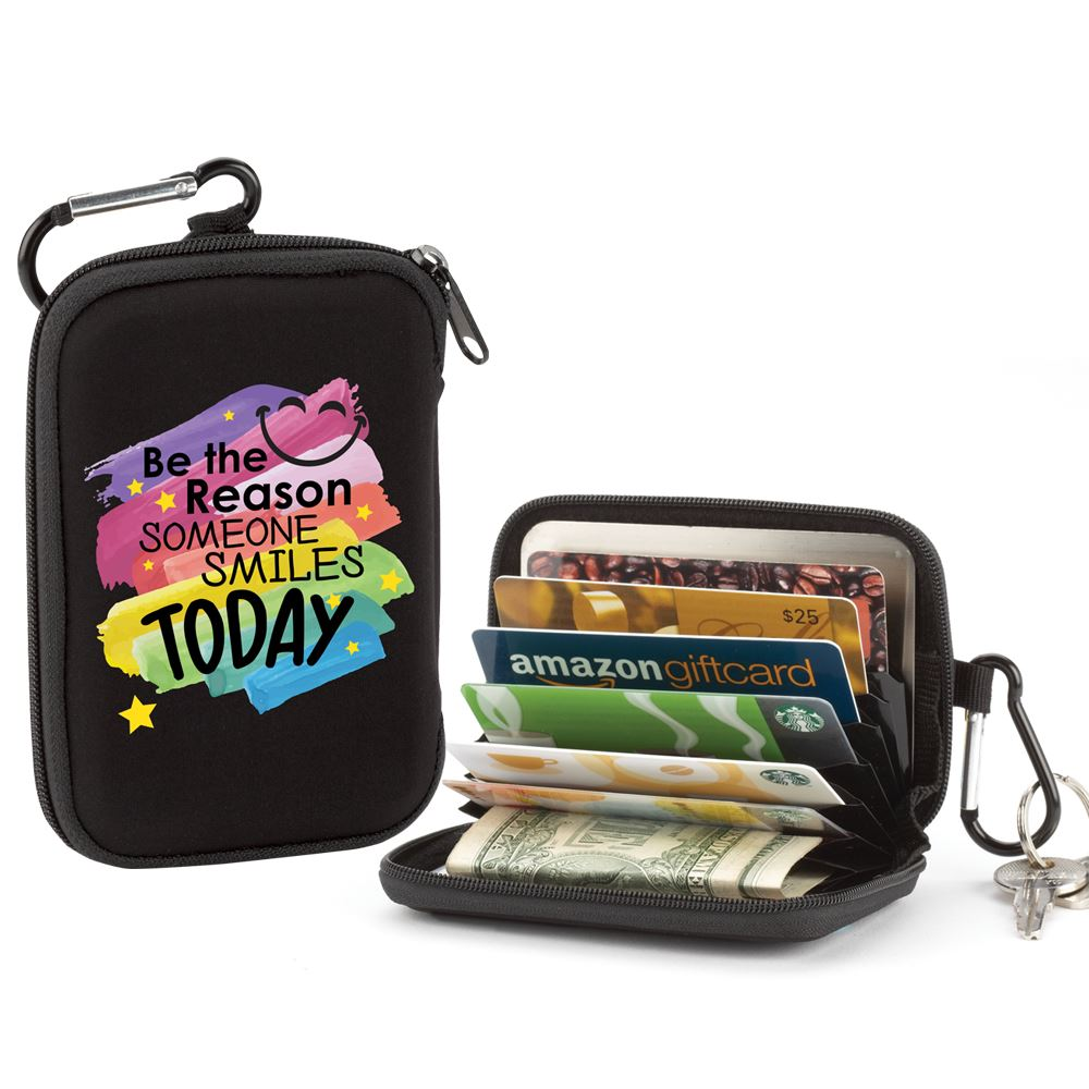 Be The Reason Someone Smiles Today Identity Guard Wallet With Carabiner