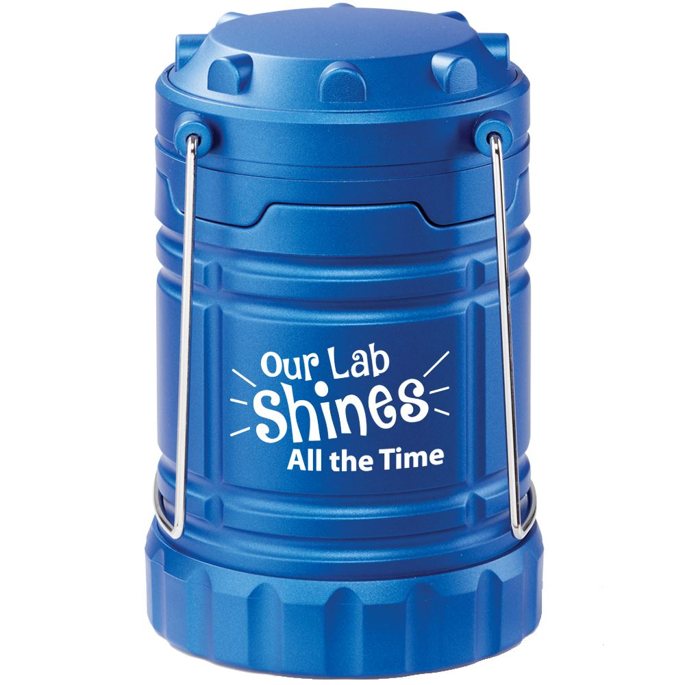 Our Lab Shines All The Time Indoor/Outdoor Retractable LED Lantern With Magnetic Base
