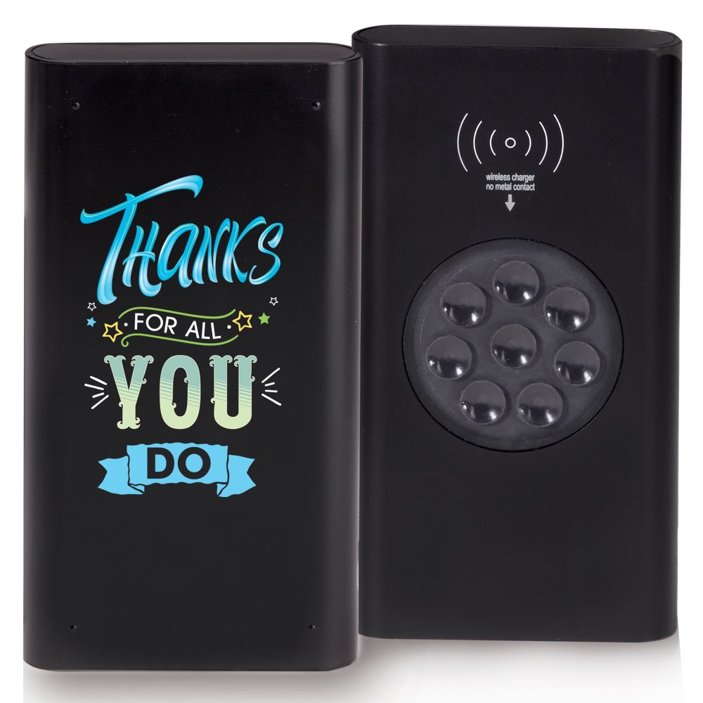 Thanks For All You Do Wireless 4,000 mAh UL® Power Bank With Suction Cups