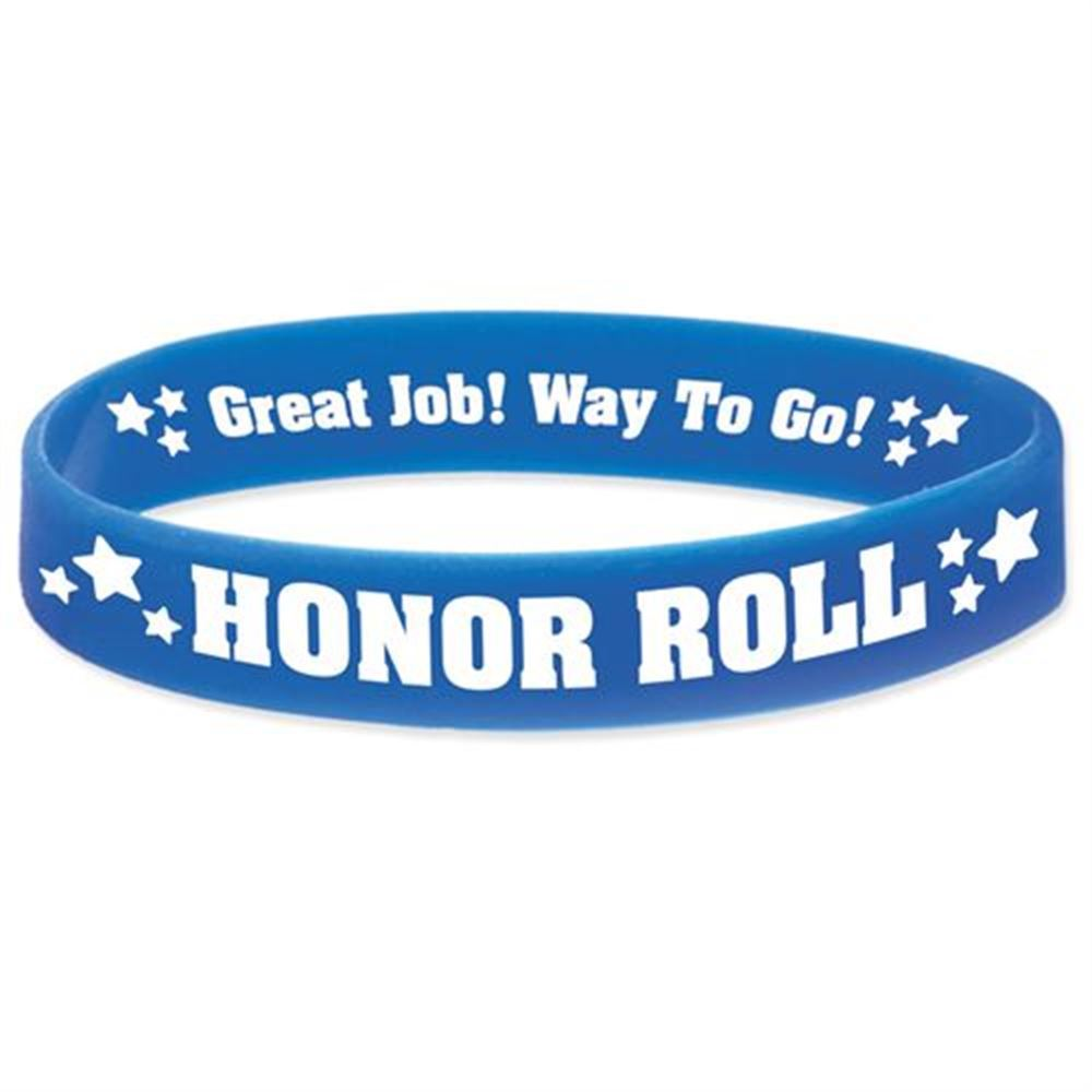 Honor Roll 2-Sided Silicone Bracelets - Pack of 10