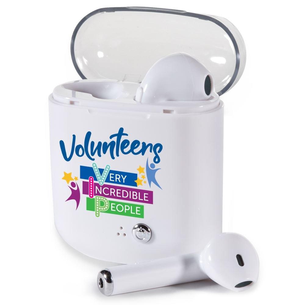 Volunteers: Very Incredible People Bluetooth® Earbuds in Charging Case