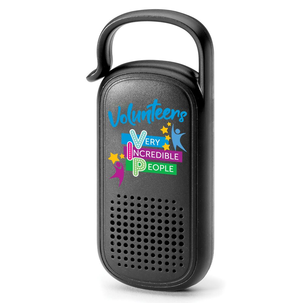 Volunteers: Very Incredible People Clip-N-Go Bluetooth® Speaker