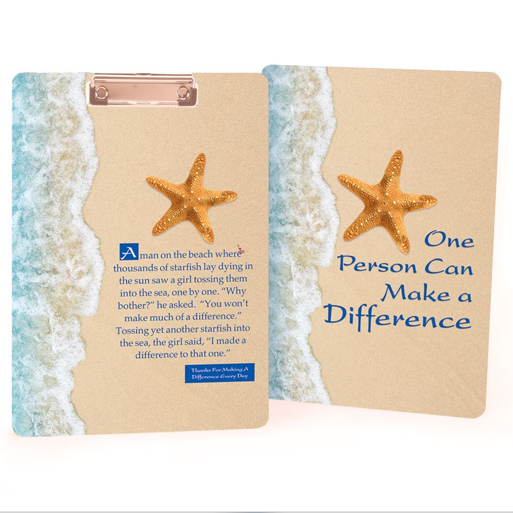 One Person Can Make A Difference Clipboard