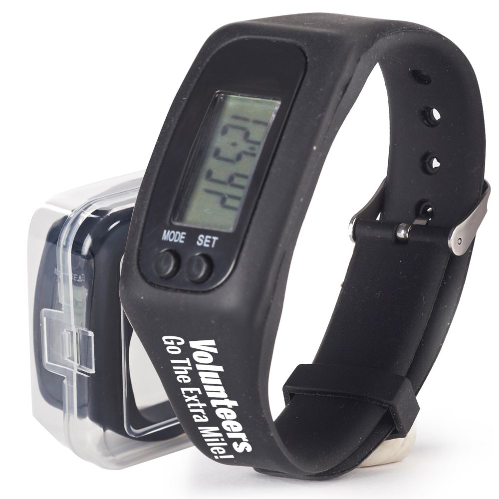 Volunteers Go The Extra Mile! Fitness Pedometer Watch