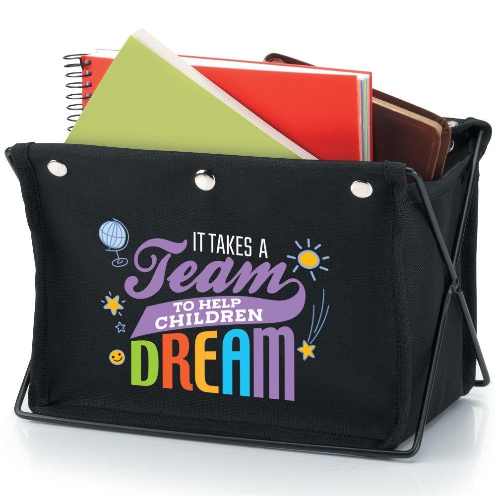It Takes A Team To Help Children Dream Fabric Desktop Caddy