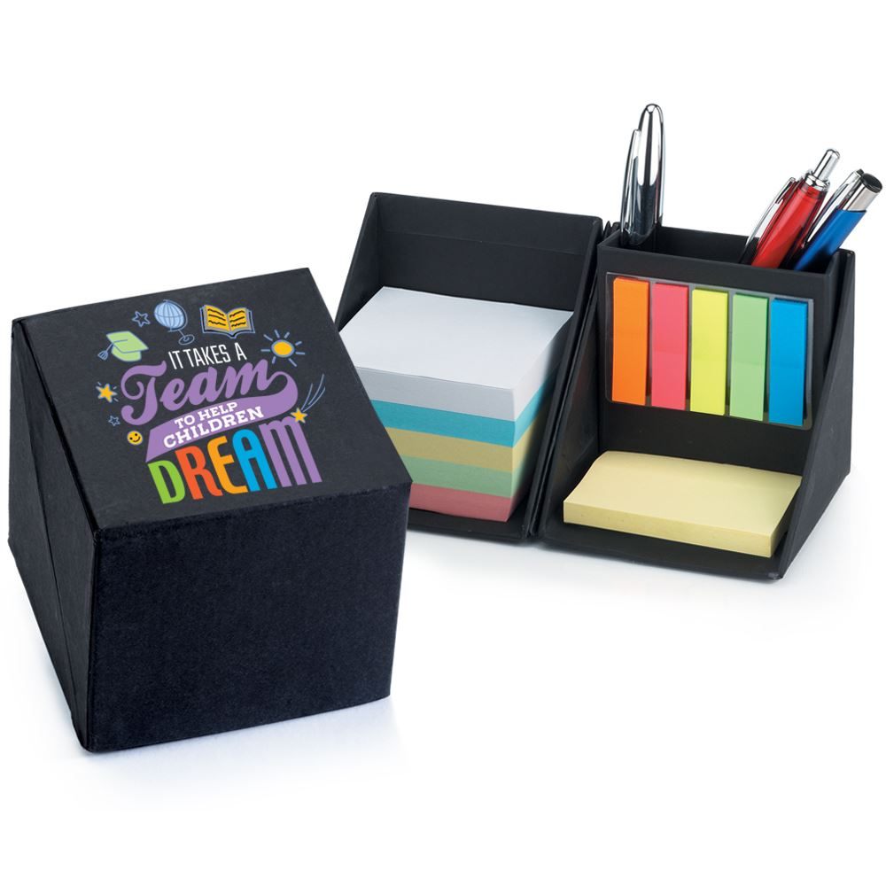 It Takes A Team To Help Children Dream Recycled Note Cube Caddy