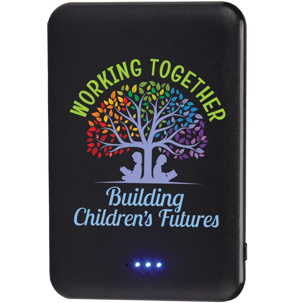 Working Together Building Children's Futures 5000 mAh UL® Powerbank