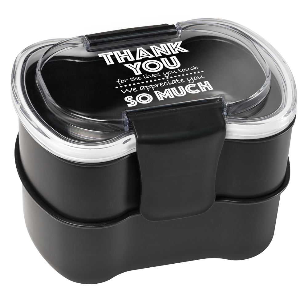 2-Tier Locking Food Containers