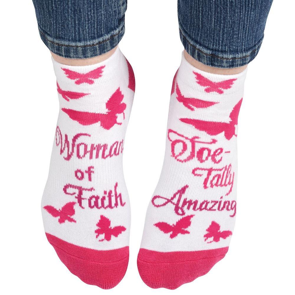 Woman Of Faith Cushioned Ankle Socks