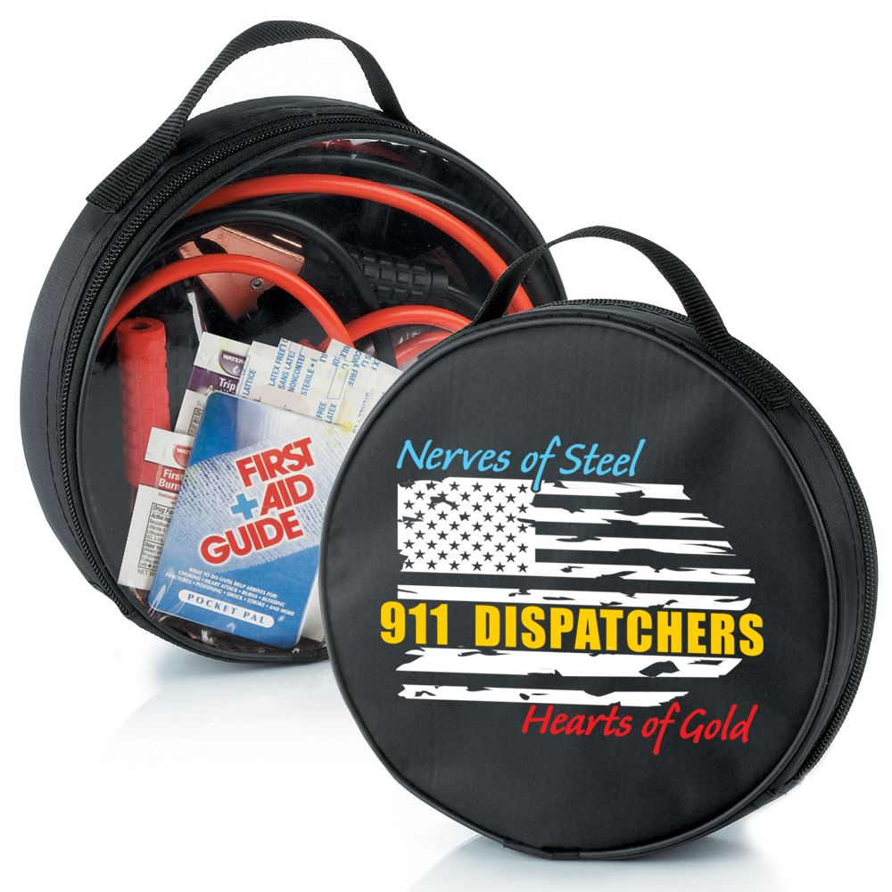 911 Dispatchers Nerves Of Steel Heart Of Gold 5-Piece Auto Emergency Kit