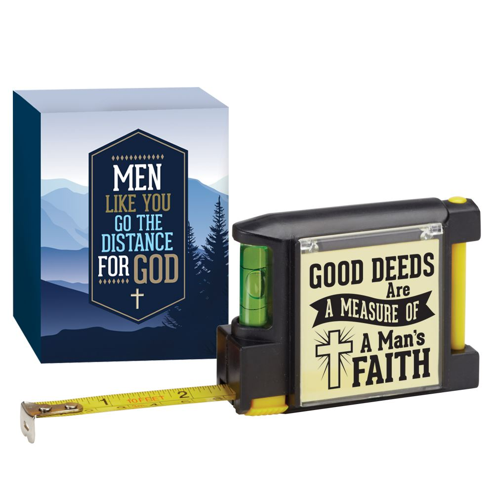 Good Deeds Are A Measure Of A Man's Faith Deluxe Tape Measure