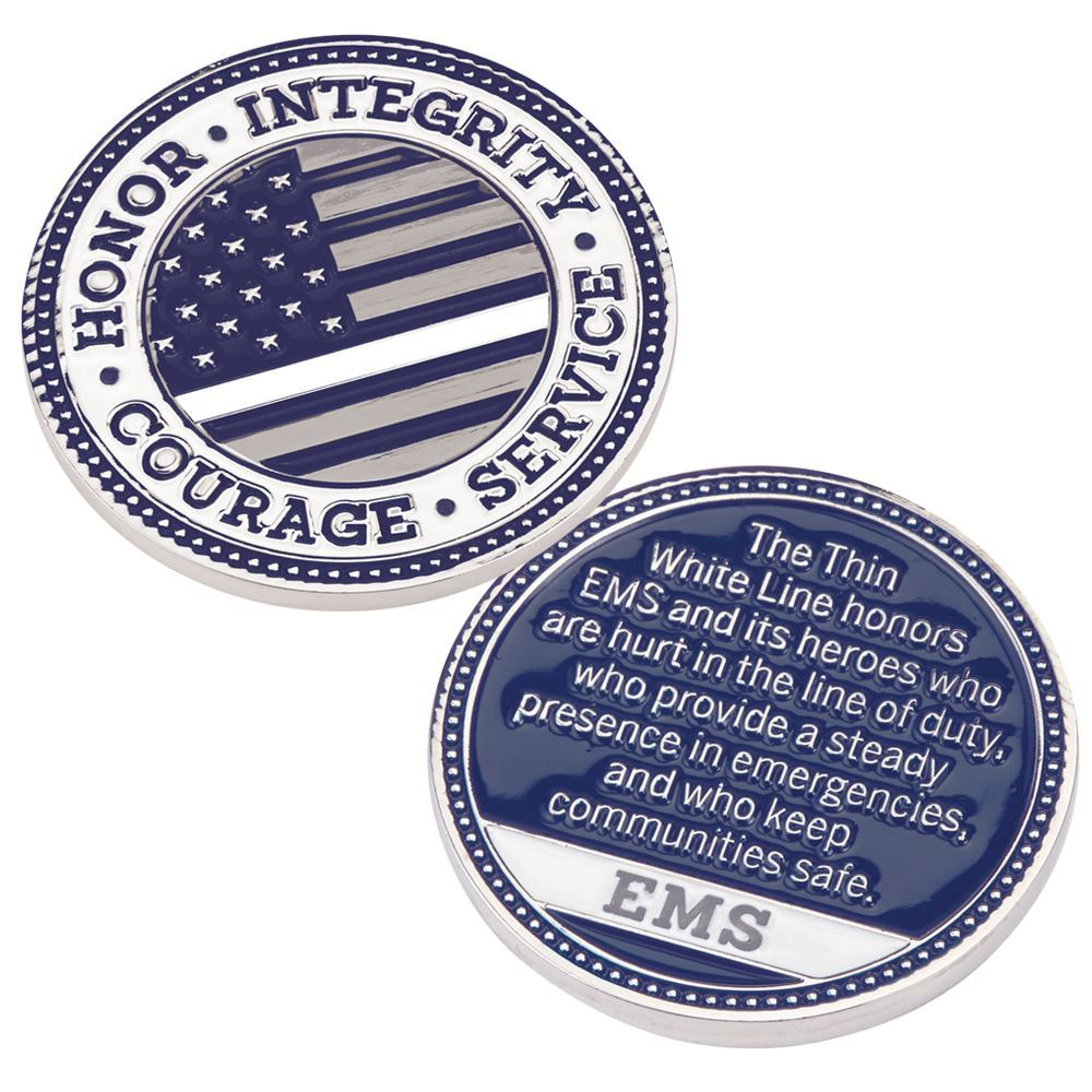 The Thin White Line EMS Challenge Coin
