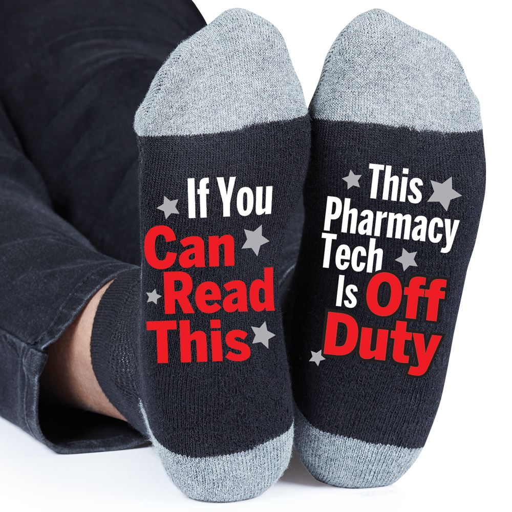 If You Can Read This, This Pharmacy Tech Is Off Duty Ankle Socks