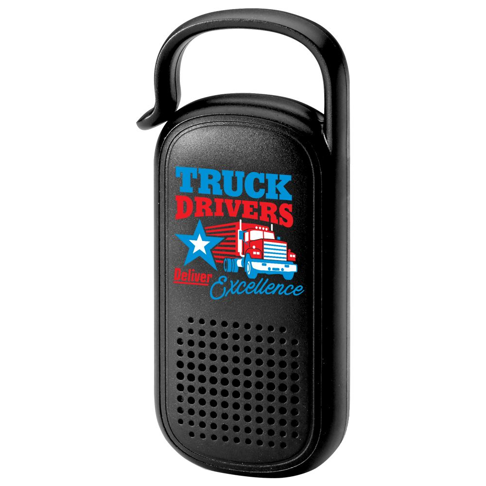 Truck Drivers Deliver Excellence Clip & Go Bluetooth Speaker