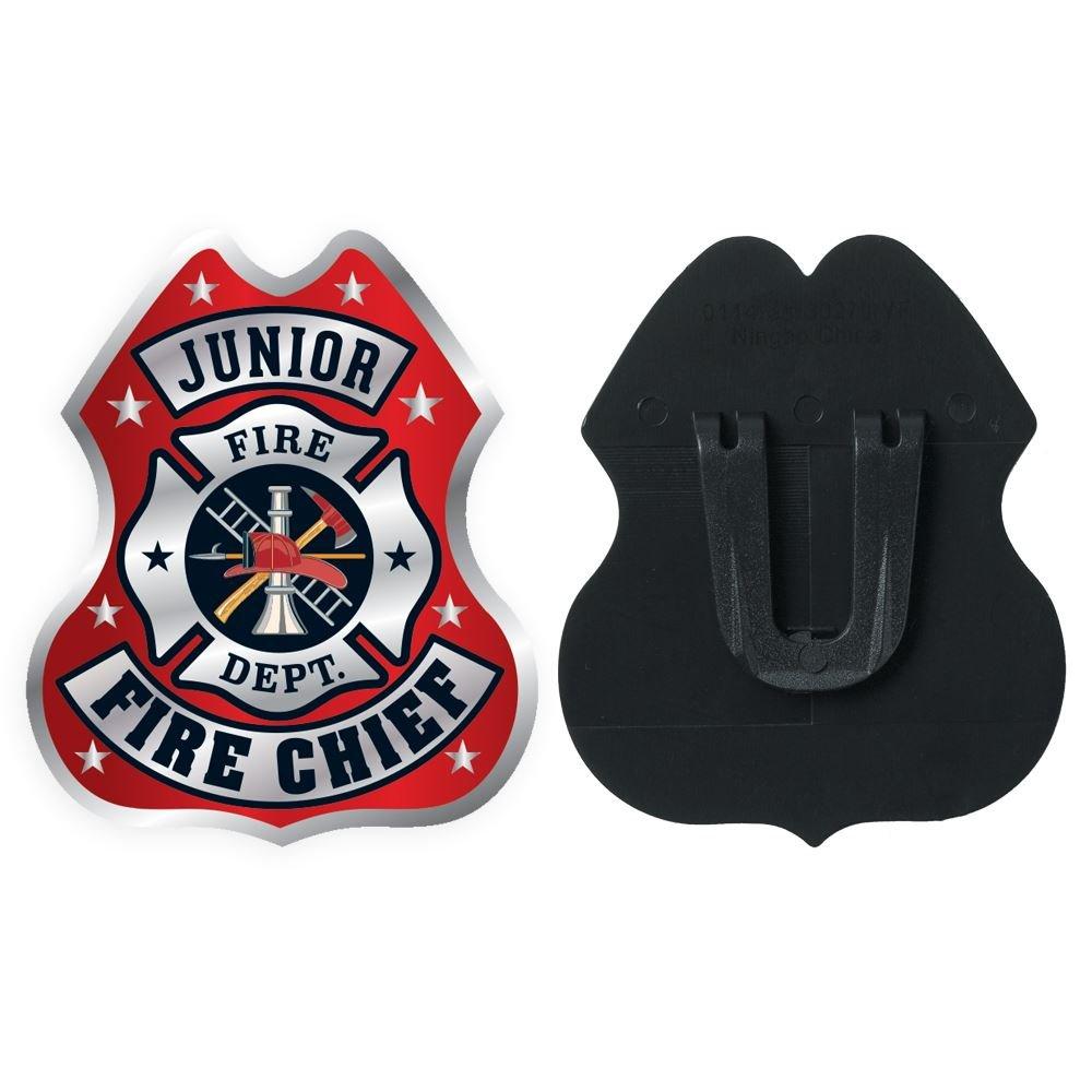 Junior Fire Chief Clip-On Junior Firefighter Badge