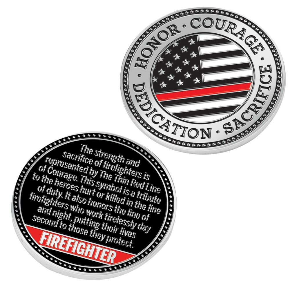 The Thin Red Line Challenge Coin With Case