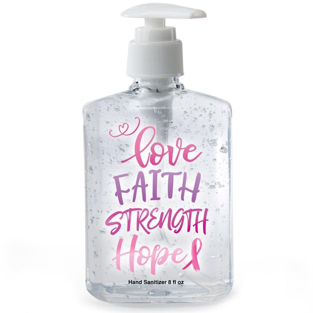 8-Oz. Hand Sanitizer Gel Pump - Love, Faith, Strength, Hope