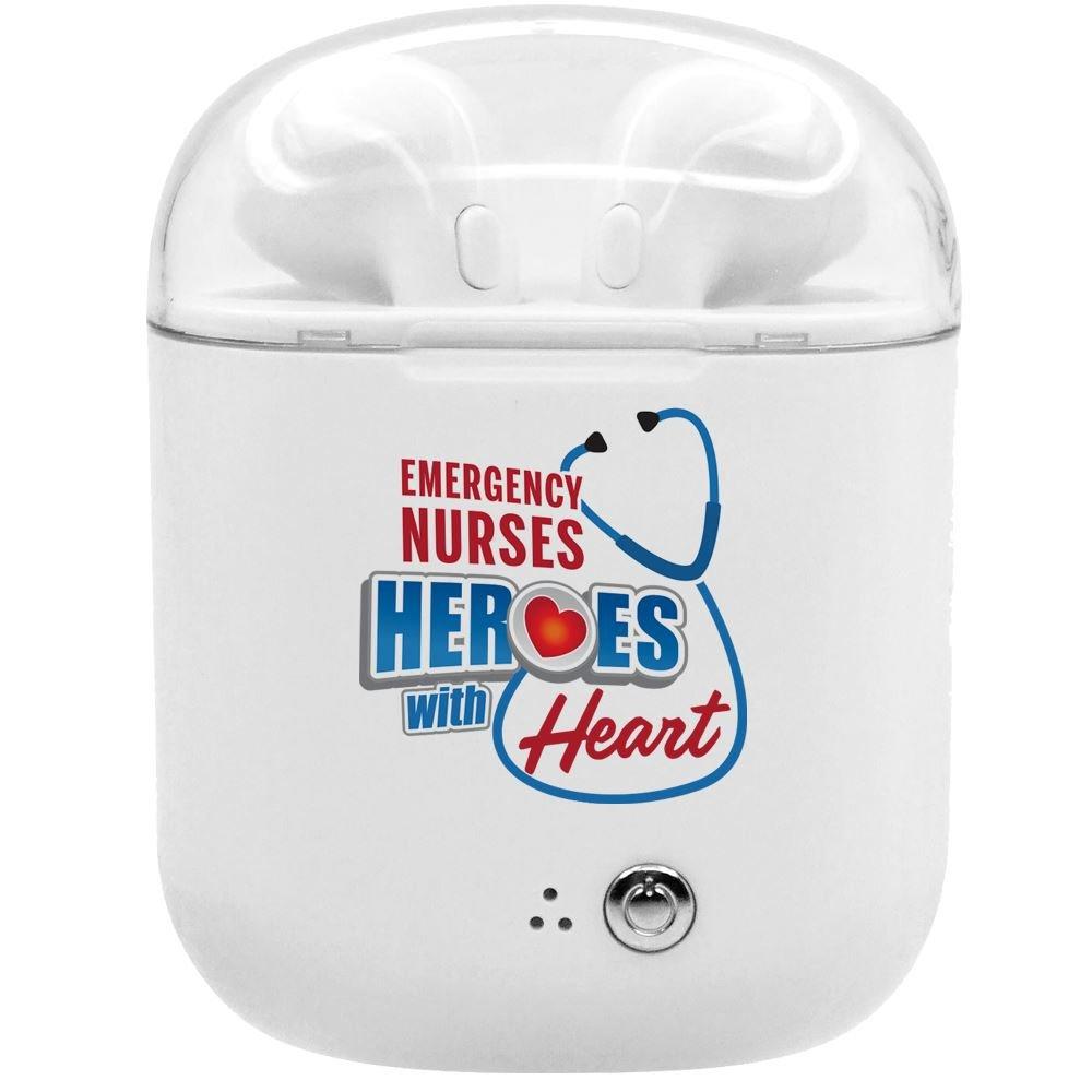 Emergency Nurses: Heroes With Heart Bluetooth® Earbuds In Charging Case