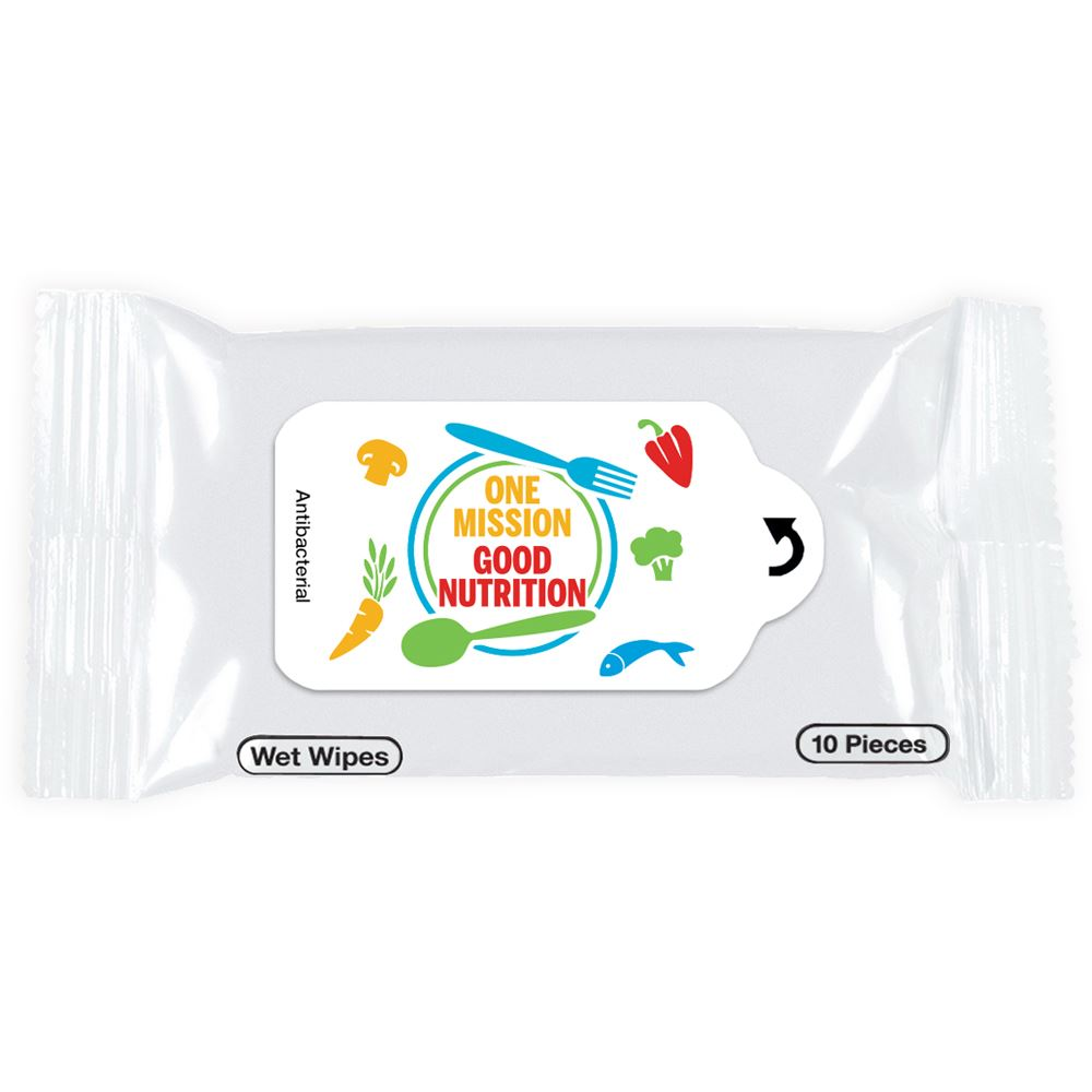 One Mission, Good Nutrition Antibacterial Wet Wipes