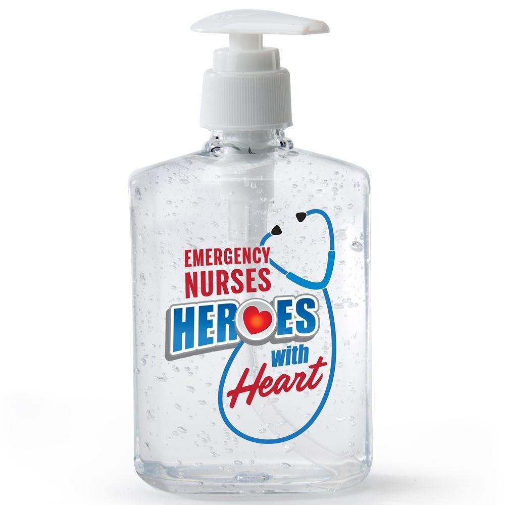 Emergency Nurses: Heroes With Heart 8-oz. Hand Sanitizer Gel Pump
