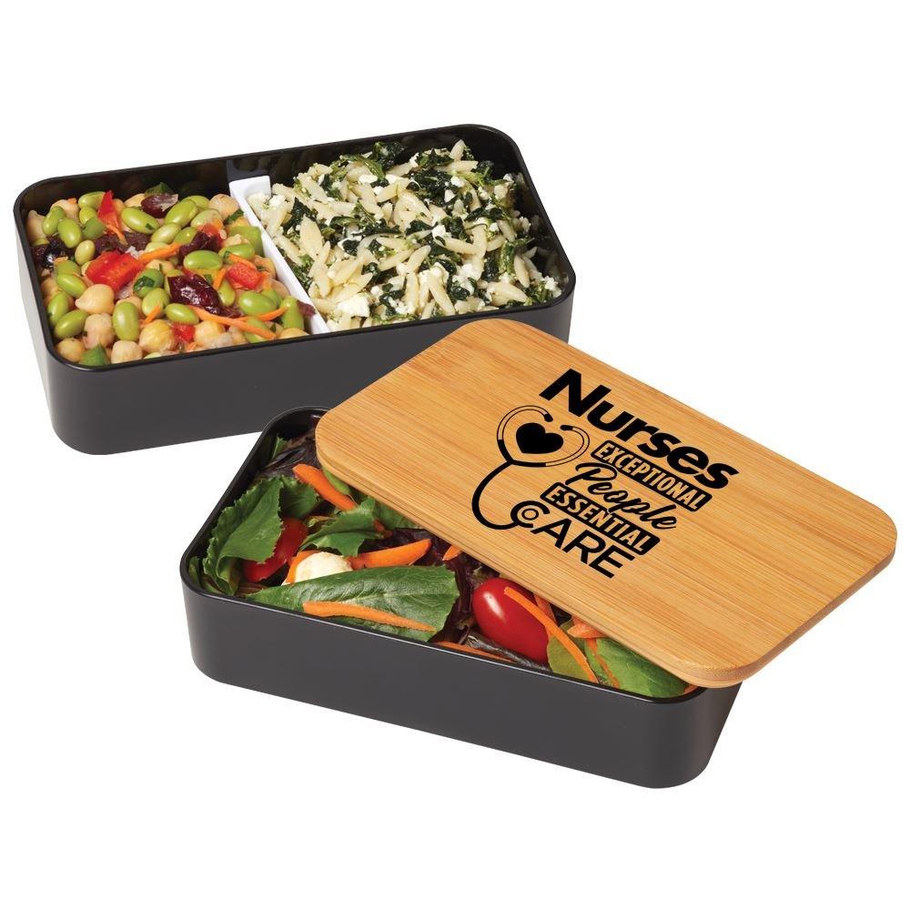 Nurses: Exceptional People, Essential Care 2-Tier Wheat Fiber & Bamboo Bento Box