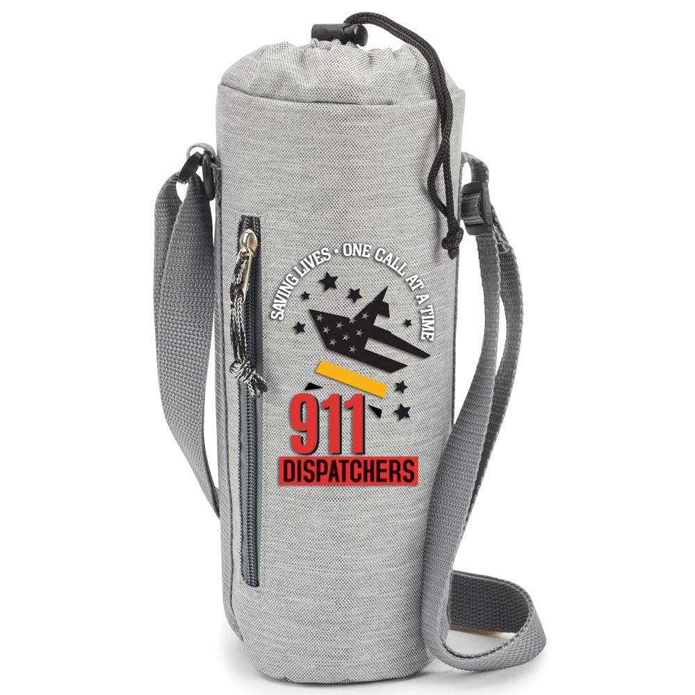 911 Dispatchers Saving Lives One Call At A Time Insulated Bottle Sling