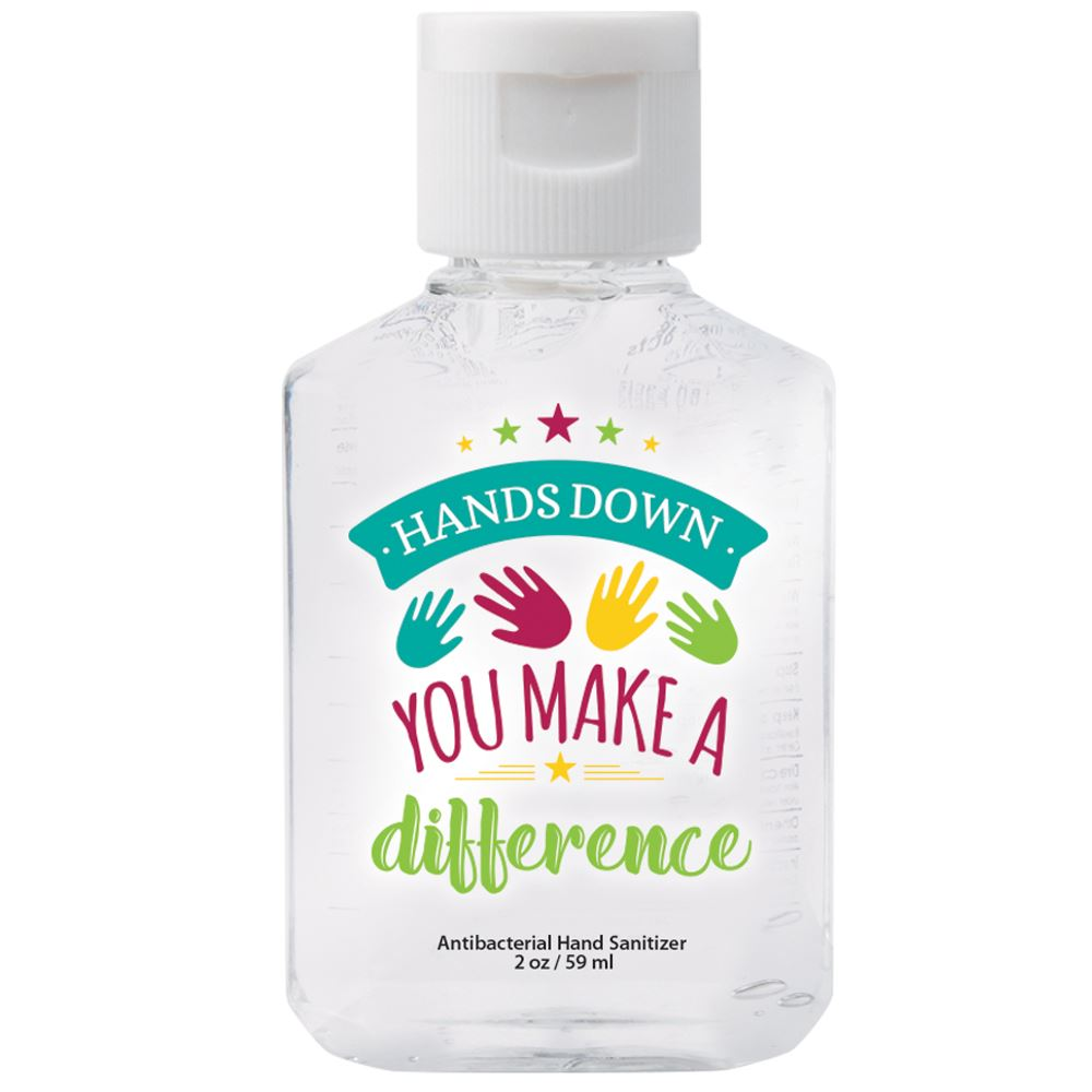 Hands Down You Make A Difference 2-Oz. Hand Sanitizer Gel