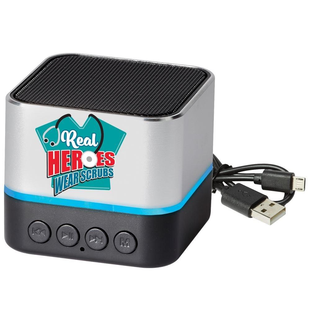 Real Heroes Wear Scrubs Two-Tone Metal Bluetooth® Speaker