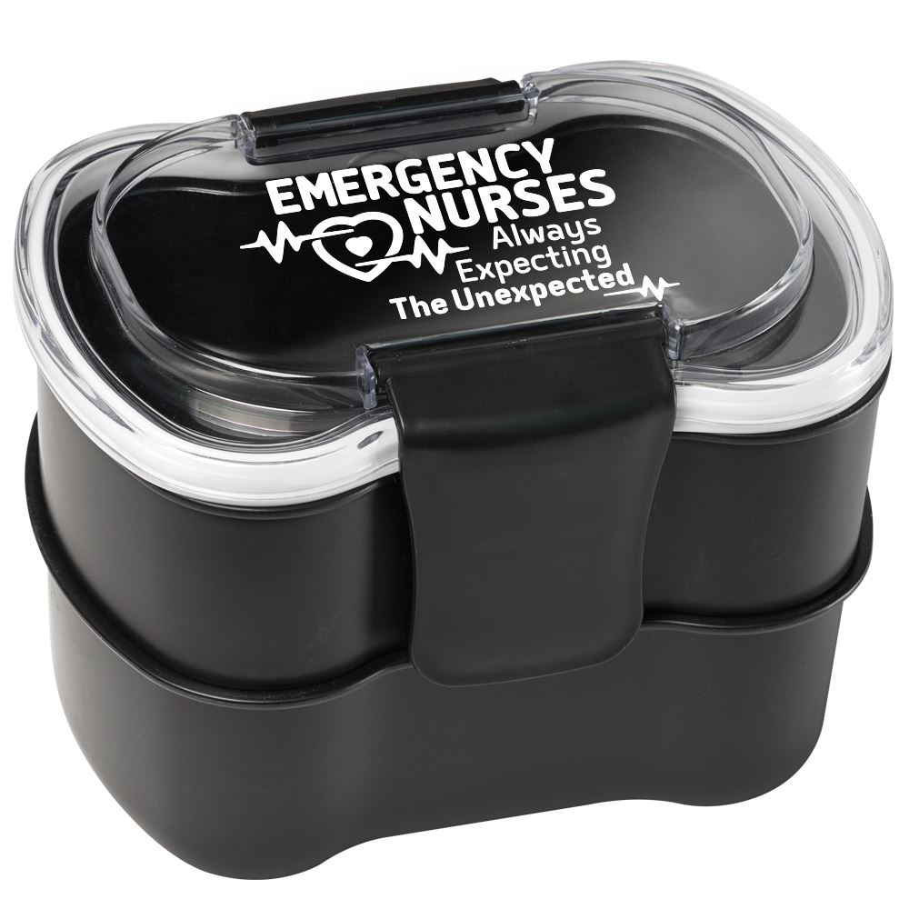 Emergency Nurses: Always Expecting The Unexpected 2-Tier Locking Food Containers