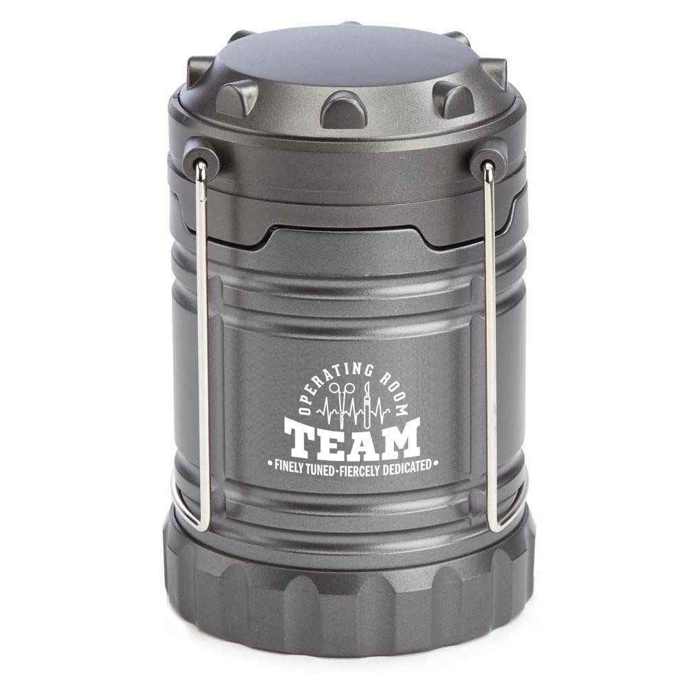 Operating Room Team: Finely Tuned, Fiercely Dedicated Indoor/Outdoor Latern With Magnetic Base