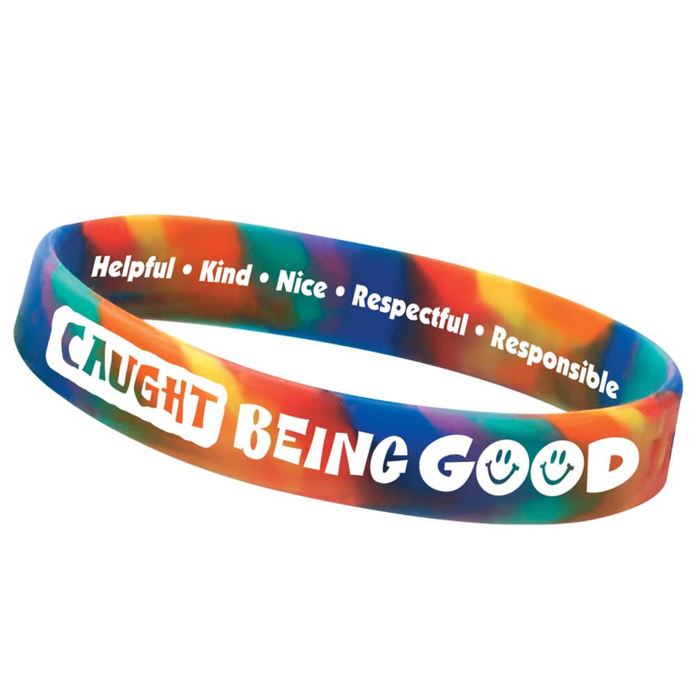Caught Being Good 2 Sided Silicone Bracelet Achievement Award