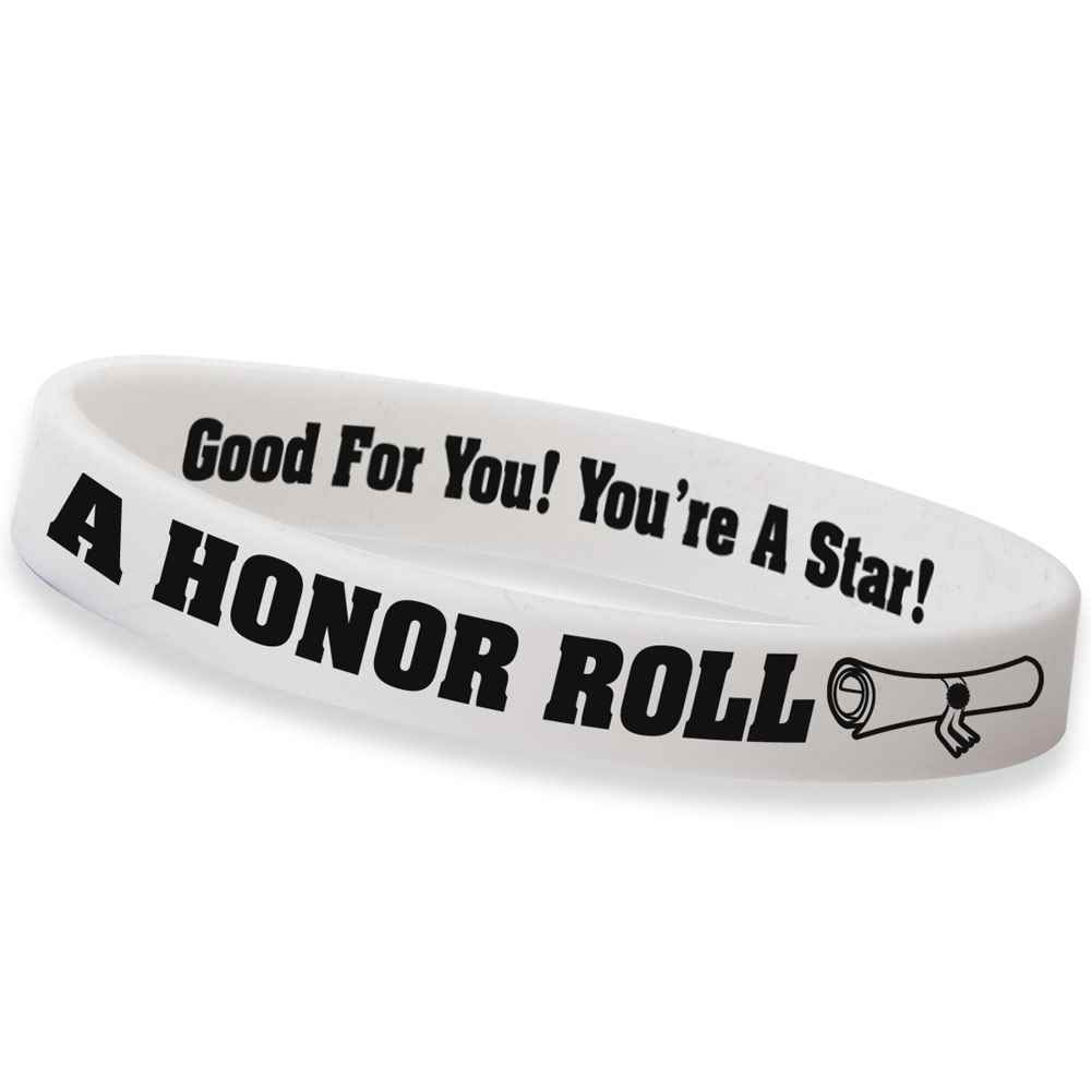 A Honor Roll Silicone Bracelets - Pack of 10