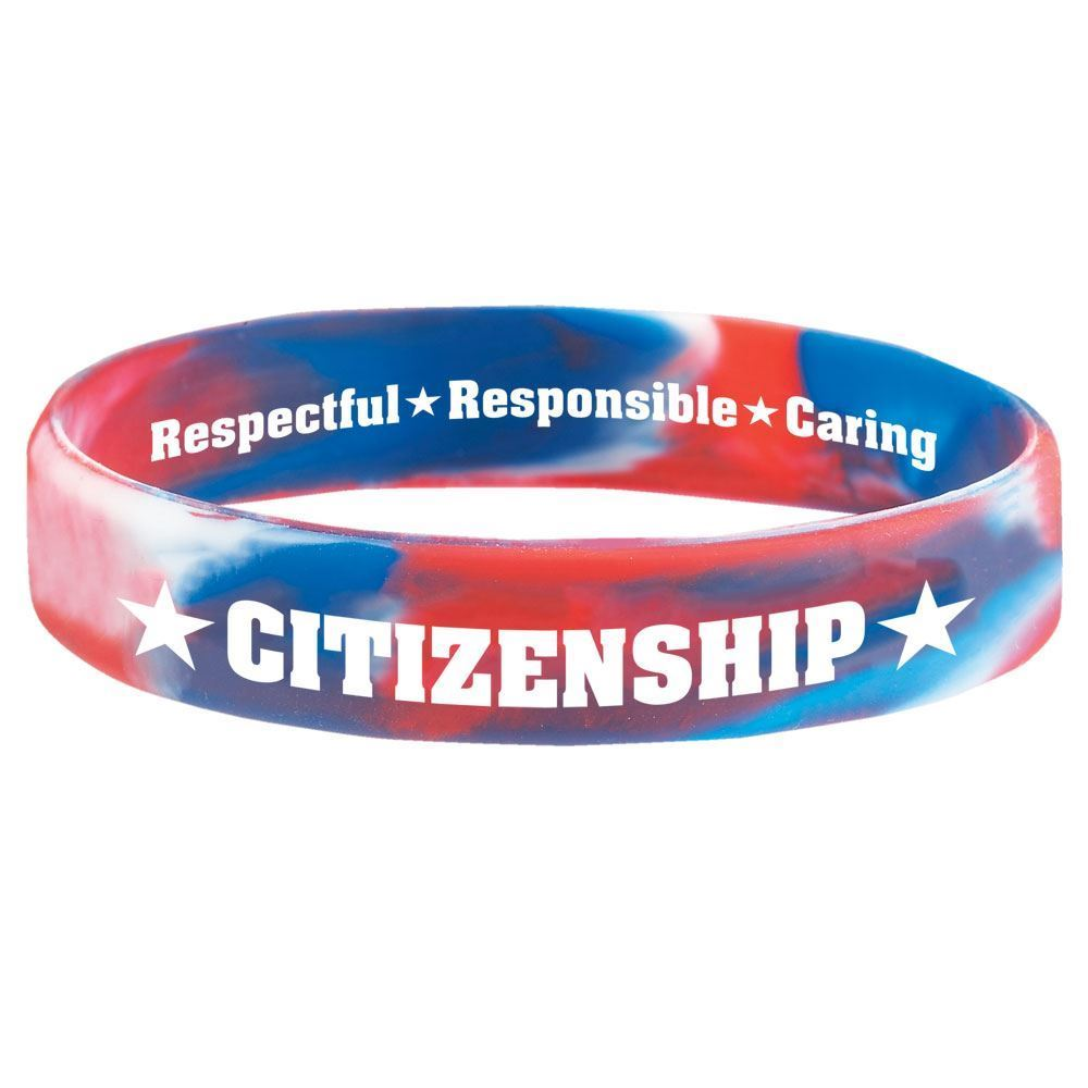Citizenship 2-Sided Silicone Bracelets - Pack of 10