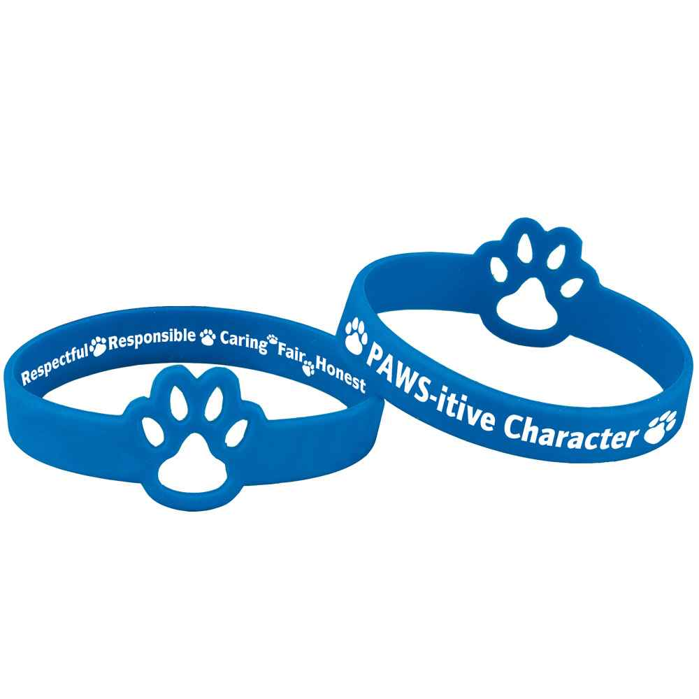 PAWS-itive Character DIe-Cut Silicone Bracelets - Pack of 10