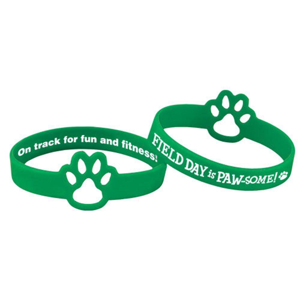 Field Day Is PAW-some! Die-Cut 2-Sided Silicone Bracelets - Pack of 10