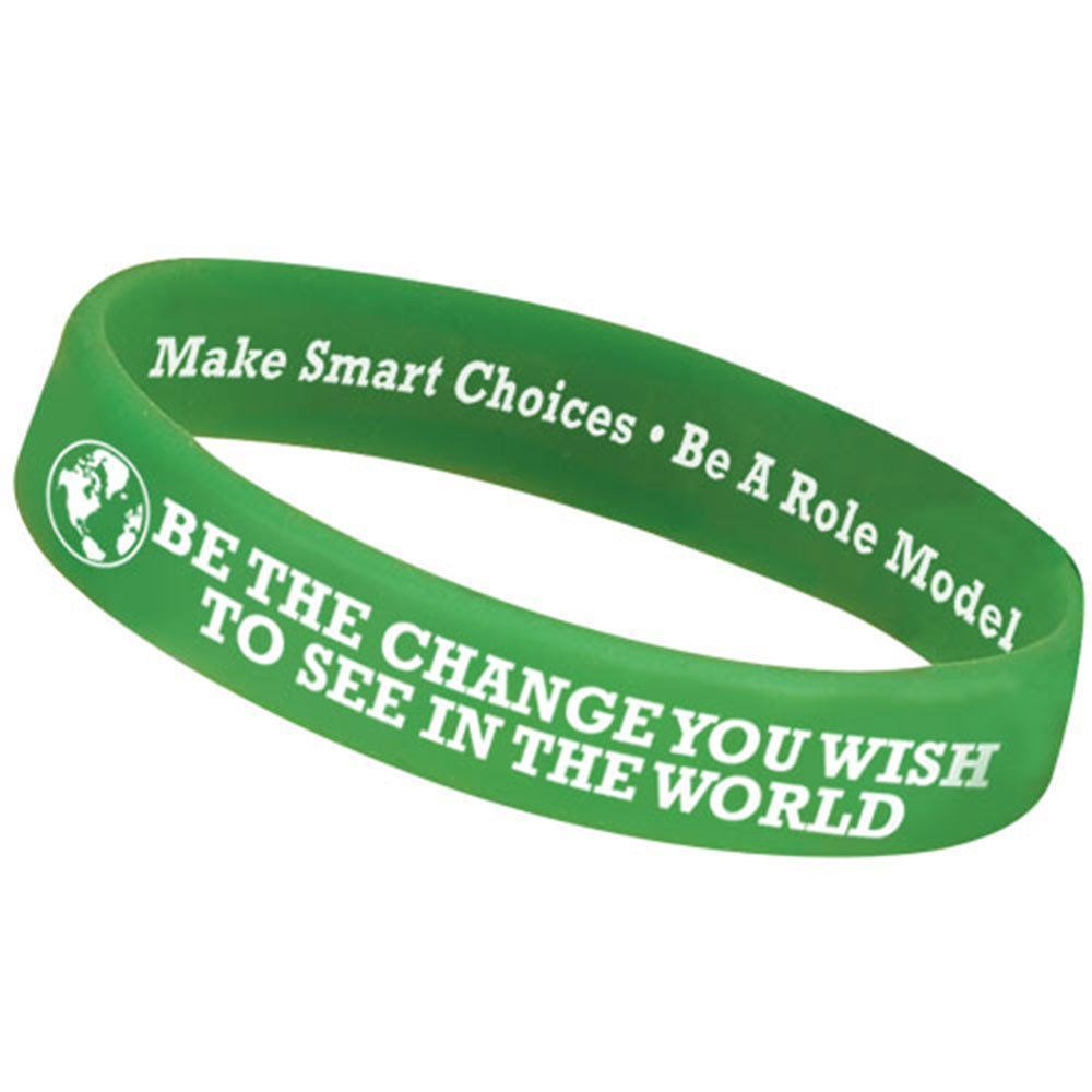 Be The Change You Wish To See In The World Silicone Awareness Bracelets