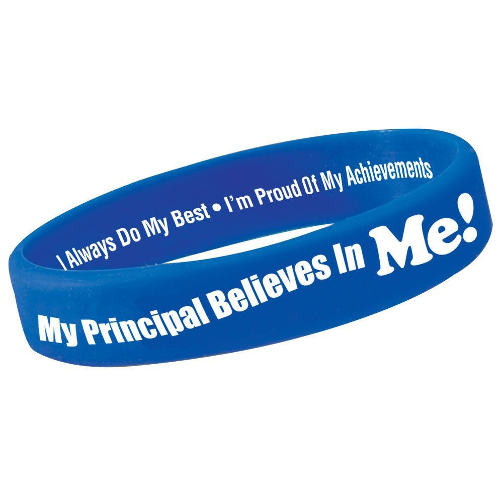 My Principal Believes In Me! Silicone Bracelets - Pack of 10