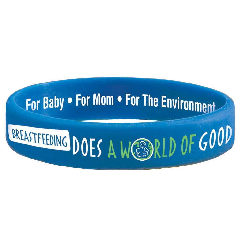 Breastfeeding Does A World Of Good Silicone Awareness Bracelets