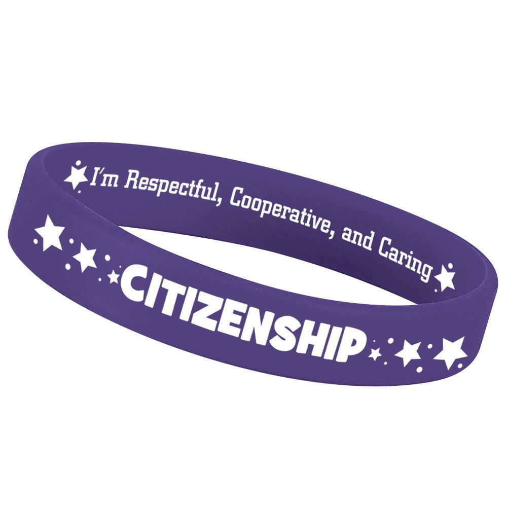 Citizenship 2-Sided Silicone Character Bracelets - Pack of 10