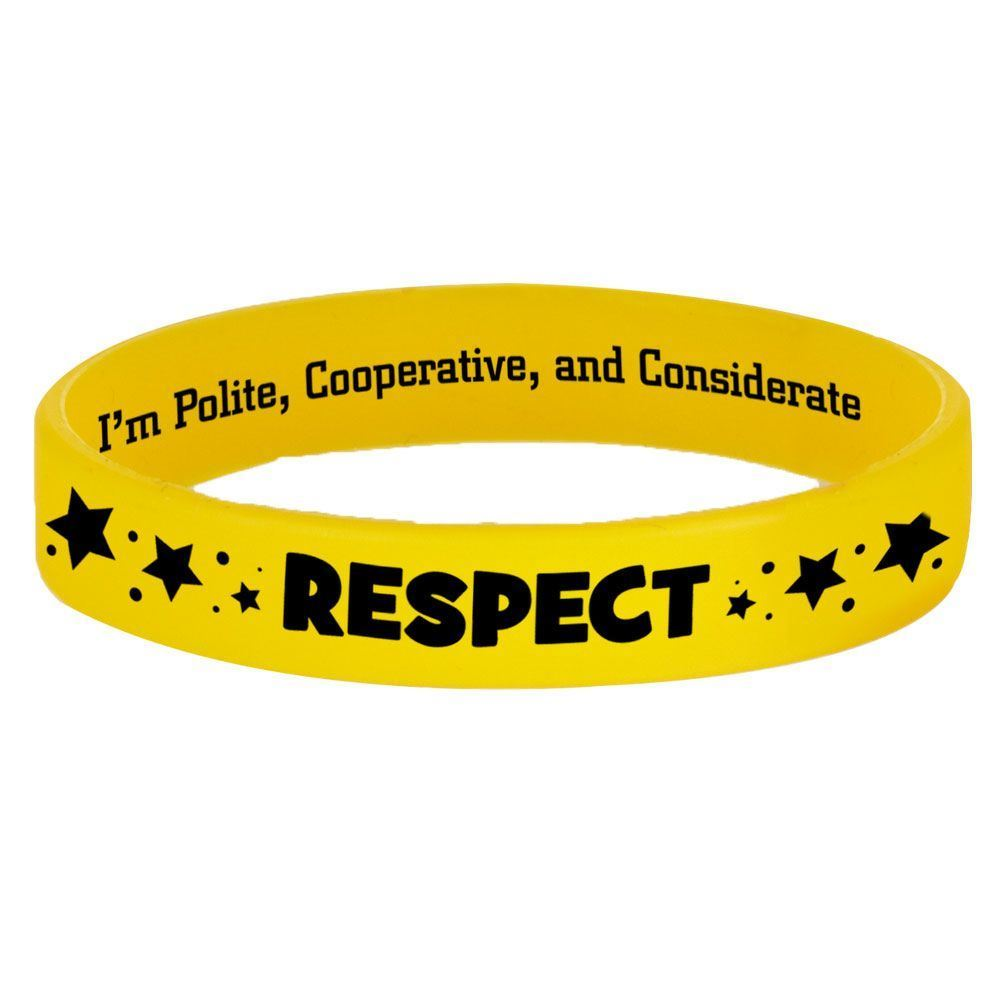 Respect 2-Sided Silicone Character Bracelets - Pack of 10